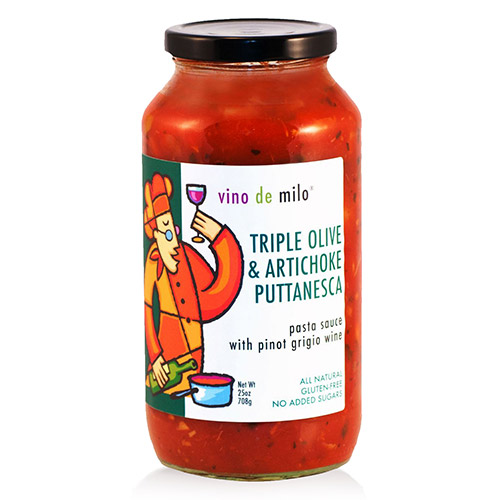 Vino de Milo No Sugar Added Pasta Sauce (25 oz) - Triple Olive & Artichoke Puttanesca