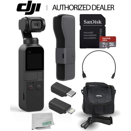 DJI Osmo Pocket Handheld 3 Axis Gimbal Stabilizer with Integrated Camera Must-Have
