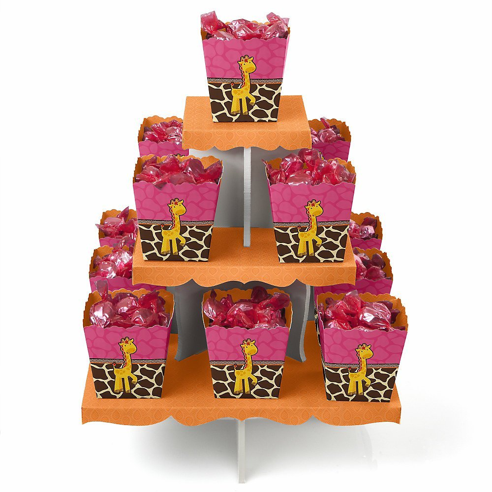 Giraffe Girl - Candy Stand & 13 Party Candy Boxes