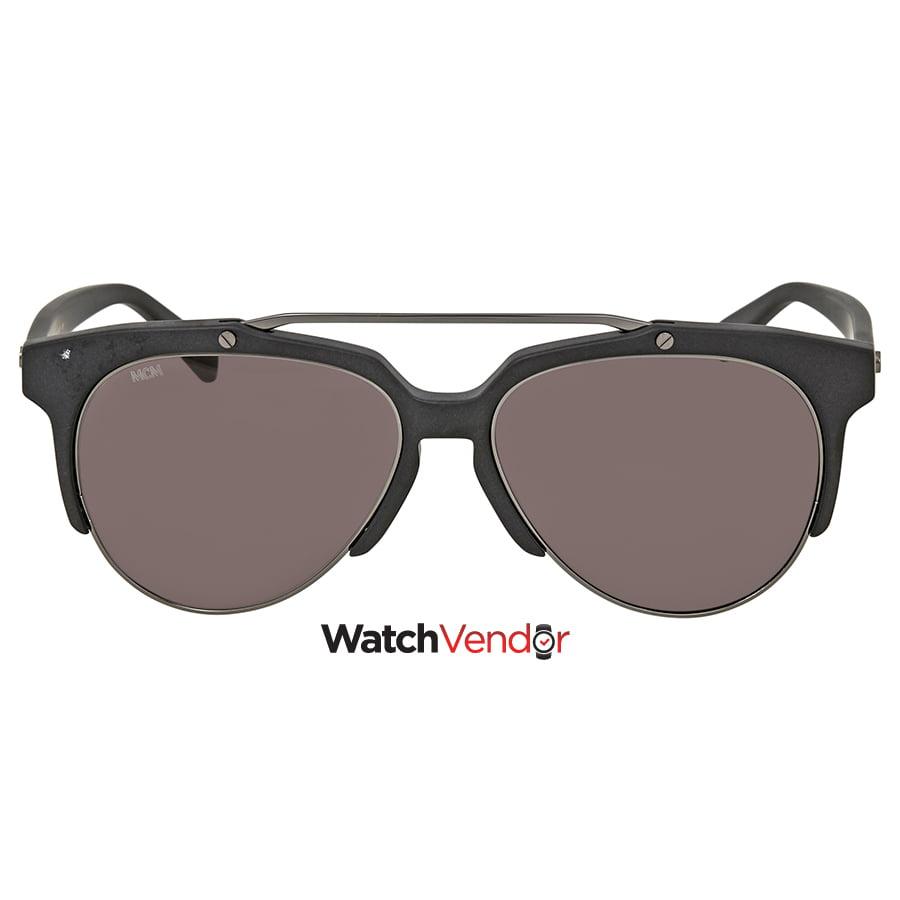 9f872c36a6e MCM Matte Black Aviator Men s Sunglasses MCM 112S 002 57