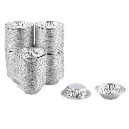 Unique BargainsBaking Aluminium Foil Disposable Cake Egg Tart Chocolate Mold Silver Tone 250pcs