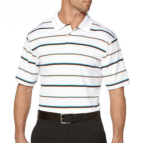 Ben Hogan Big Men's Short Sleeve Print Stripe Polo
