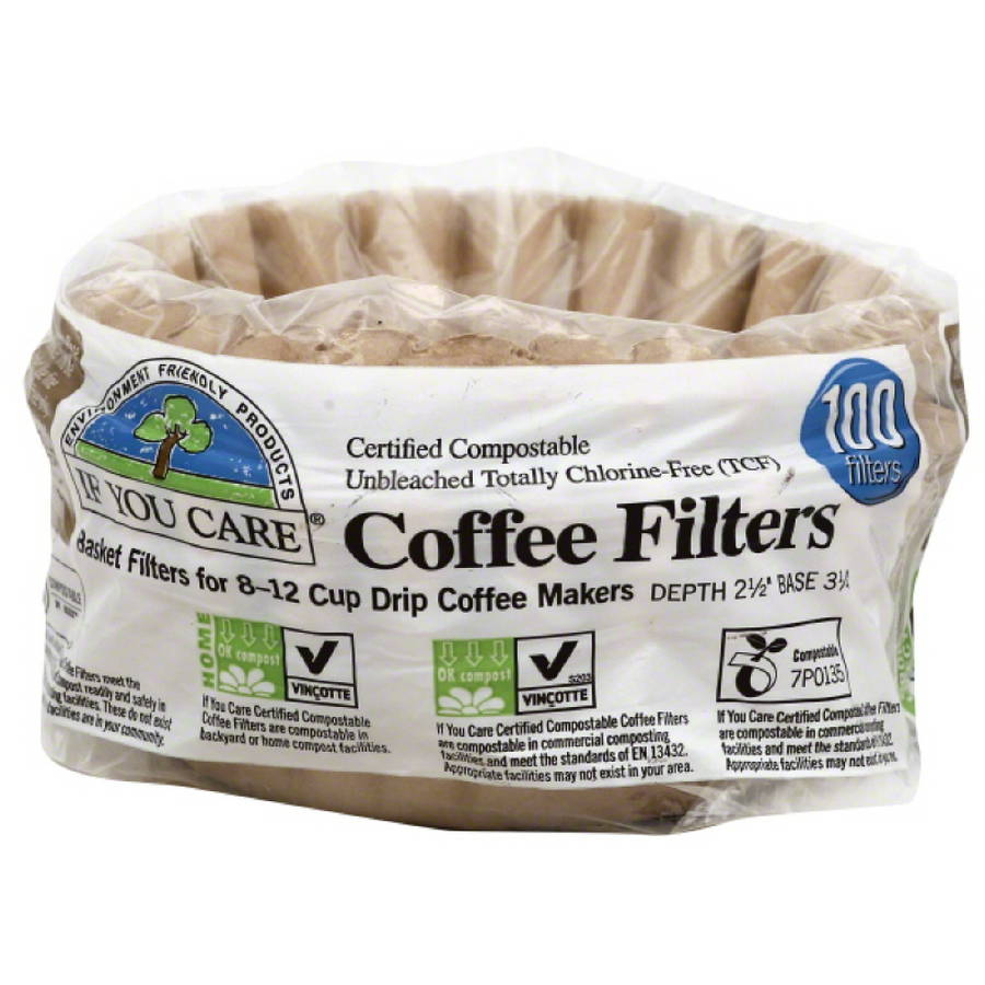 If You Care Compostable Coffee Filters, 100 count, (Pack of 12)