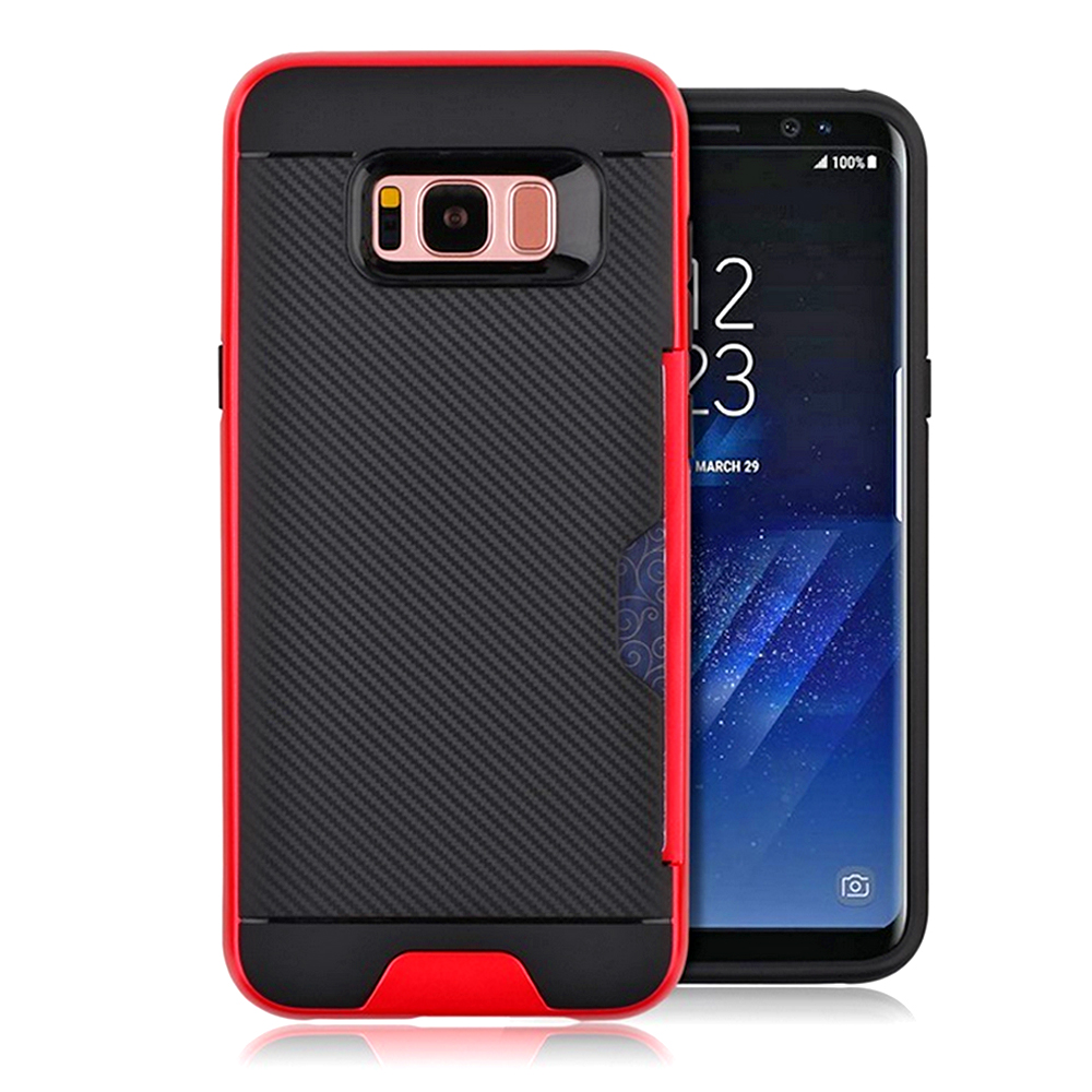 Samsung Galaxy S8 Full Body With Card Slot Hybrid TPU Dual Case Cover