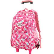 Girls Rolling Backpack Wheeled Backpack Trolley School Bag Travel Luggage
