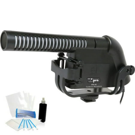 Condenser Shotgun Video Mic with Fuzzy Windbuster for Sony DCR-SX85 HDR-CX130 HDR-CX210