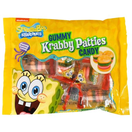 Gummy Krabby Patty (Nickelodeon SpongeBob SquarePants Krabby Patties Gummy Candies, 2.54 oz.)