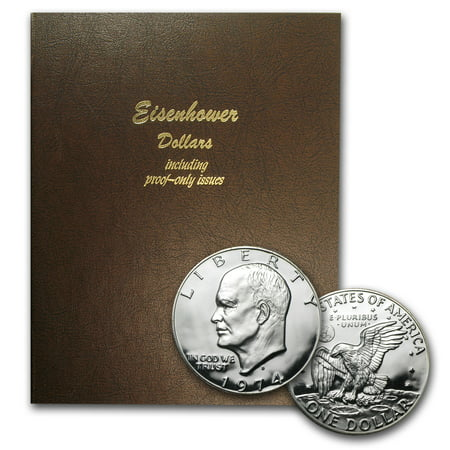 1971 1978 32 Coin Eisenhower Dollar Set Bu Proof  Dansco Album