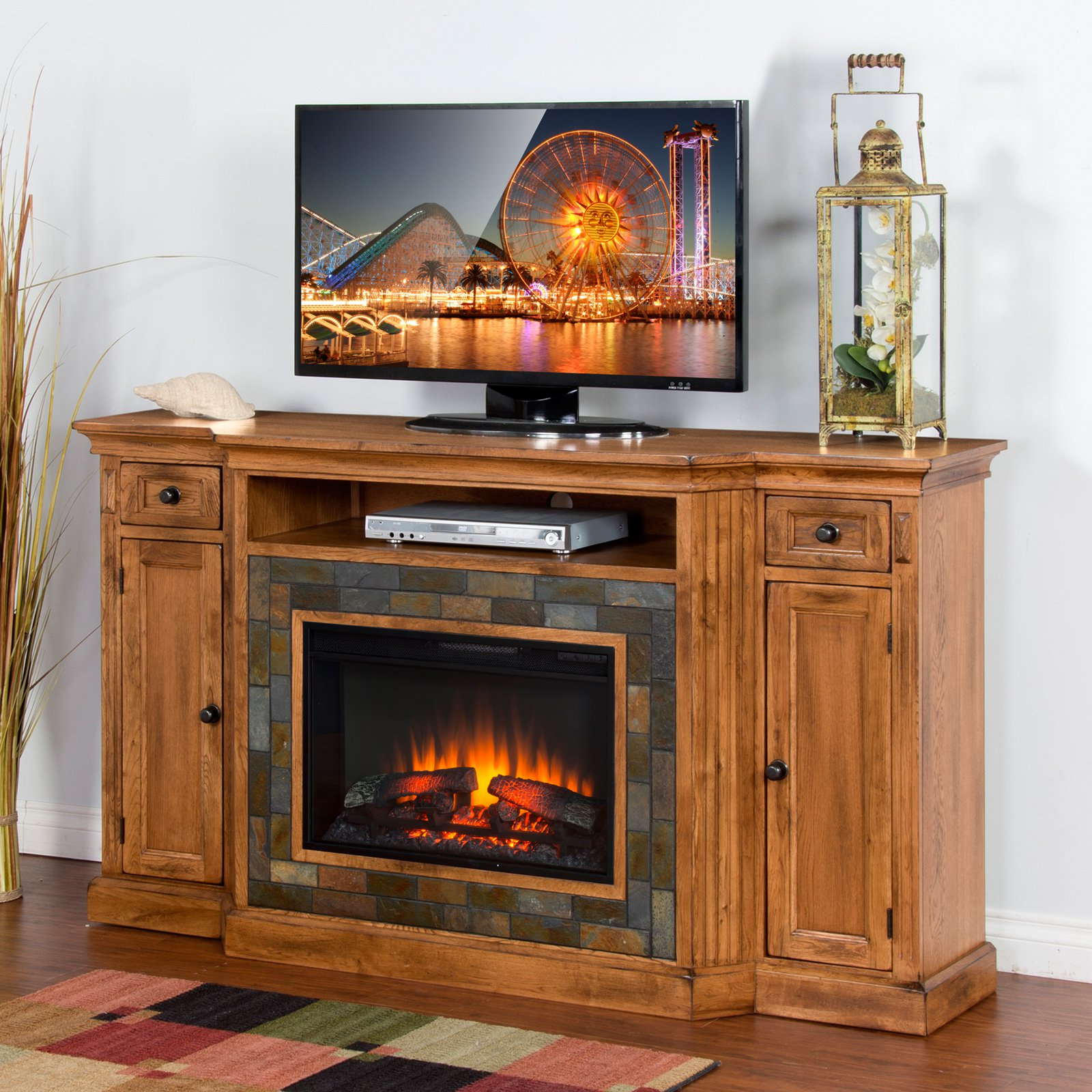 Sunny Designs Sedona 72 in. Electric Fireplace TV Console