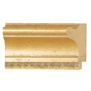 "Picture Frame Moulding (Wood) - Traditional Gold Finish - 2"" width - 3/8"" rabbet depth"