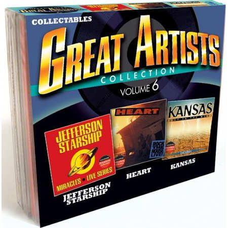 - Great Artists Collection Vol.6: Jefferson Starship Heart & Kansas (3-Cd)