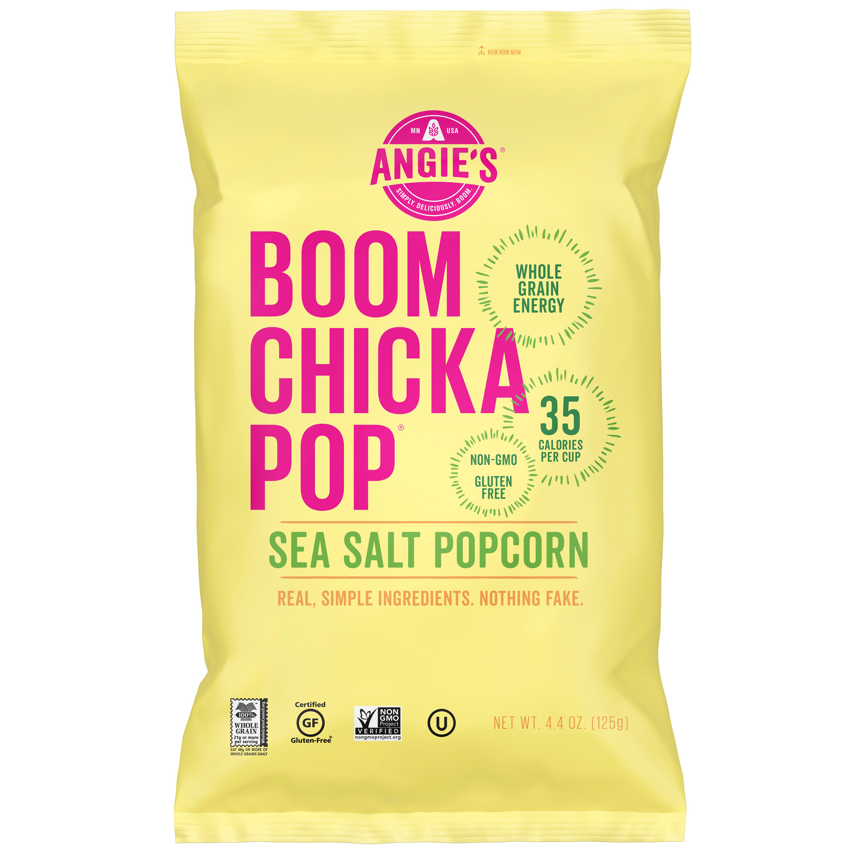 (4 Pack) Angie's BOOMCHICKAPOP Sea Salt Popcorn, 4.4 Ounce Bag