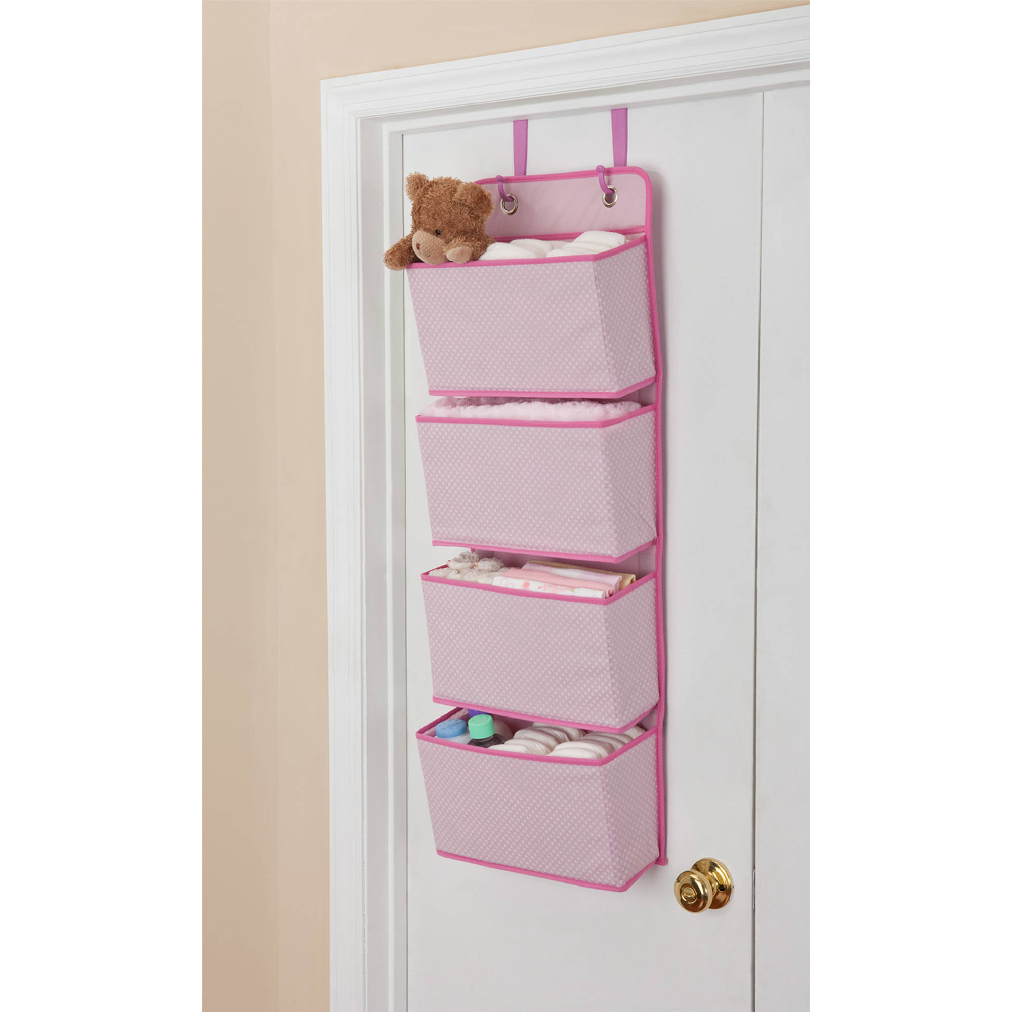The Days of the Week Kids Hanging Closet Organizer helps you and your child prepare for the upcoming week. With six large compartments to hold clothes, games, toys, and more, the hanging closet organizer will help you and your child can plan ahead for.