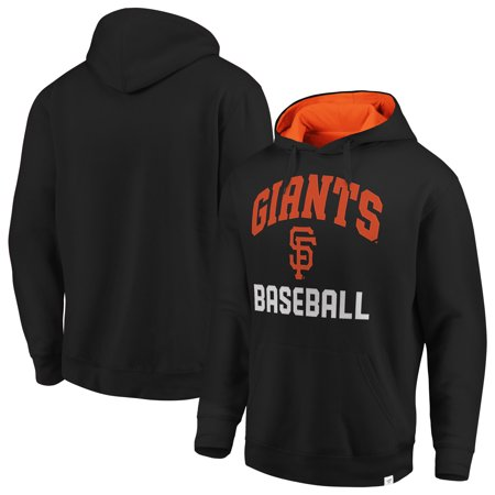 San Francisco Giants Pullover - San Francisco Giants Fanatics Branded Post Game Pullover Fleece Hoodie - Black/Orange