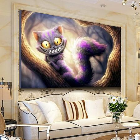 5D Diamond Embroidery Cat Diamond Painting Cross Stitch Kits Home Decor 22.8x15.4 inch Canvas+Resin Diamond - image 4 de 8