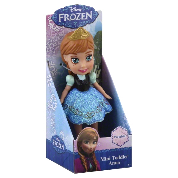 My First Disney Princess 3 inch Mini Toddler Doll - Anna Sparkle Collection