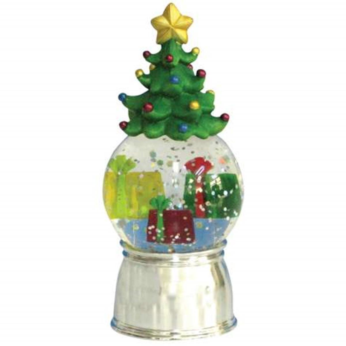 Lighted Holiday Water Globe With Presents Under Christmas