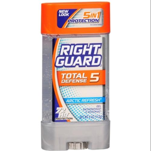 Right Guard Total Defense 5 Power Gel, Antiperspirant & Deodorant, Artic Refresh 4 oz (Pack of 3)