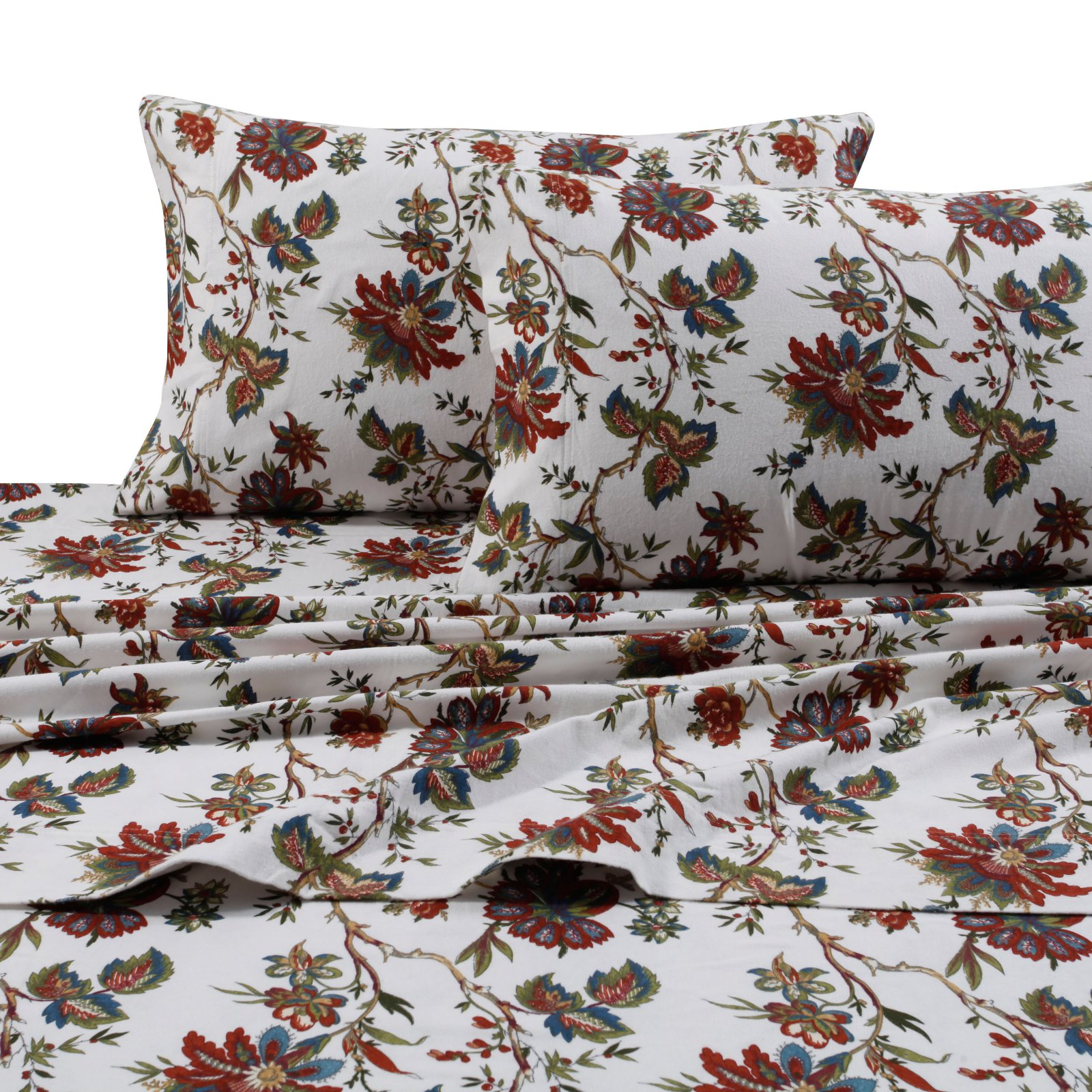 Printed Flannel 4 Piece Sheet Set by Tribeca Living - Rainforest