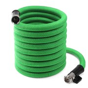 """InGarden Expandable Garden Hose - Lightweight Kink Free Flexible Water Hose with Double Latex Core, 3/4"""" Solid Brass Rust-Proof Fittings, Extra Strength Fabric, with Storage Bag"""