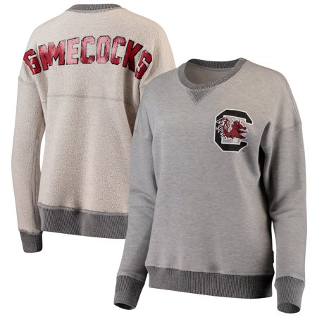 South Carolina Gamecocks Spirit Jersey Women's Reversible Sweatshirt - Heathered Gray - Spirit Jersey Cheap