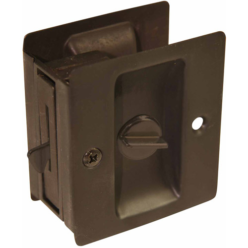 Ultra 49607 Oil Rubbed Bronze Privacy Pocket Door Lock