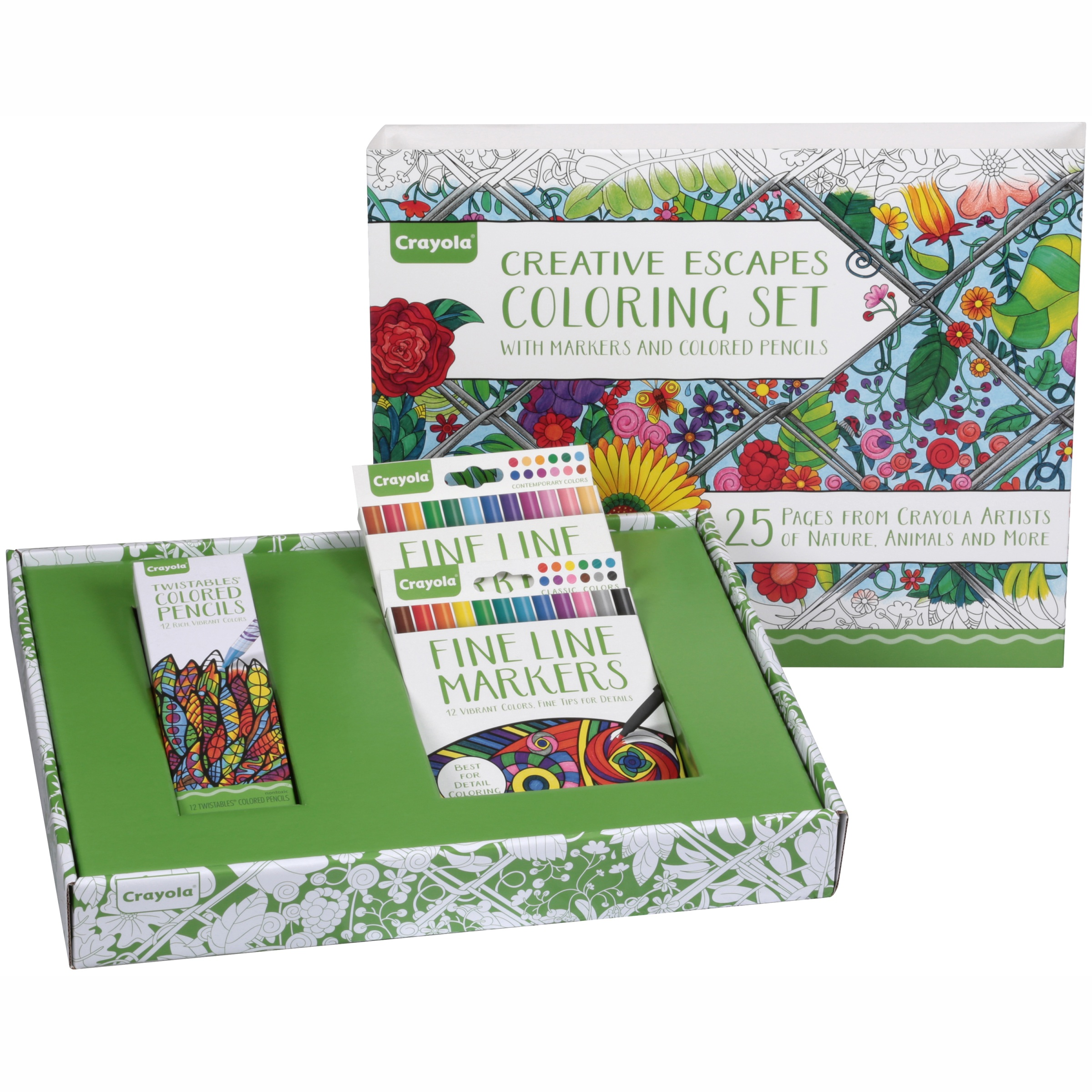 Crayola Adult Coloring Large Gift Set, 70+ Pieces by Crayola, a Hallmark Company
