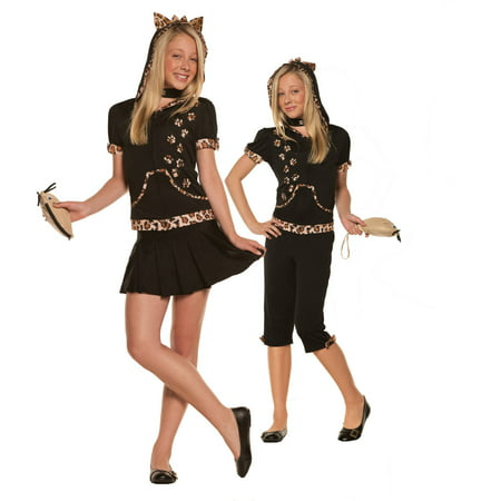 Sassy Cat Tween Halloween Costume](Halloween Party Snacks For Tweens)