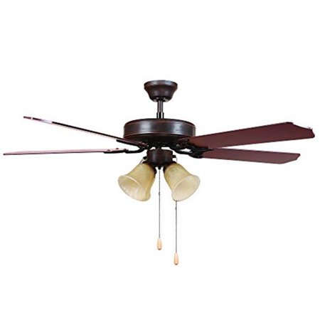 52 in. Indoor Ceiling Fan with 4 Lights - Oil Rubbed Bronze Oil Rubbed Bronze Fan Light
