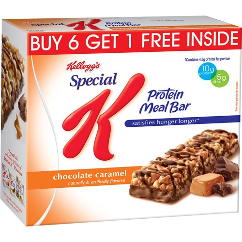 Kellogg's Special K Chocolate Caramel Protein Meal Bars, 1.59 oz, 7 count