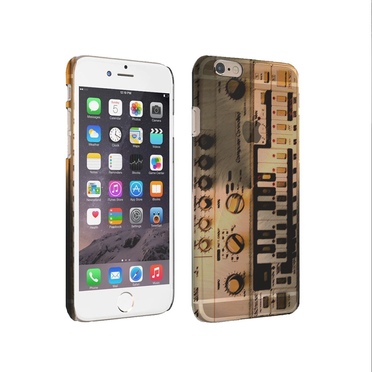 KuzmarK iPhone 6 Plus Clear Cover Case - Bass Composer Synthesizer