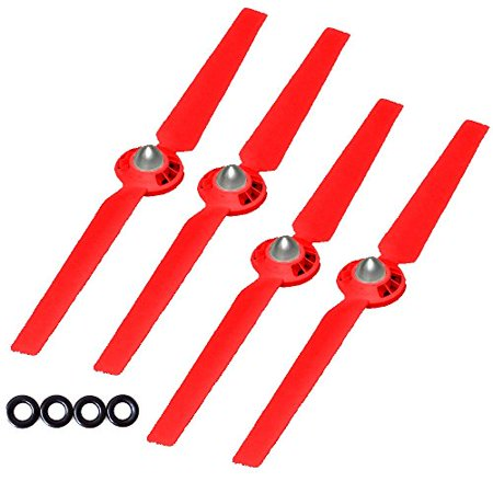 SSE® Self-tightening Propellers Props Rotor Blade Sets A and B for Yuneec Typhoon G, Q500, Q500+, Q500 4K Quadcopters (Red)