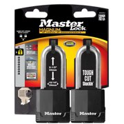Master Lock M515XTLJHC Covered Padlock, 2.5-In. Boron Shackle, Keyed, 2-Pk.