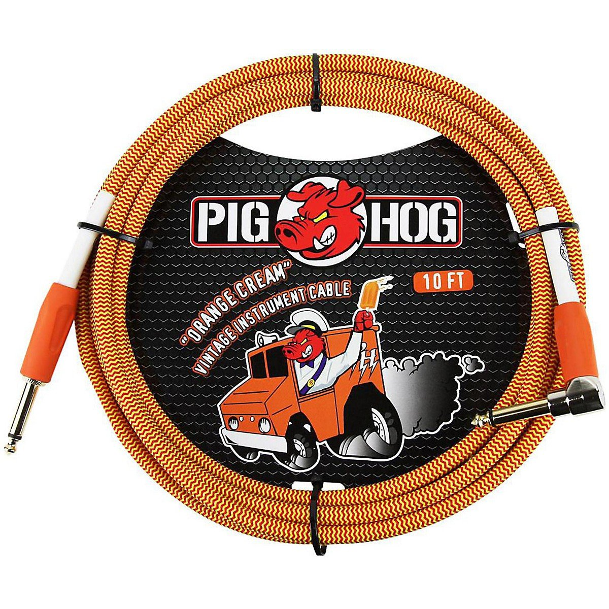 "Pig Hog PCH10CCR ""orange Cream"" Instrument Cable,"