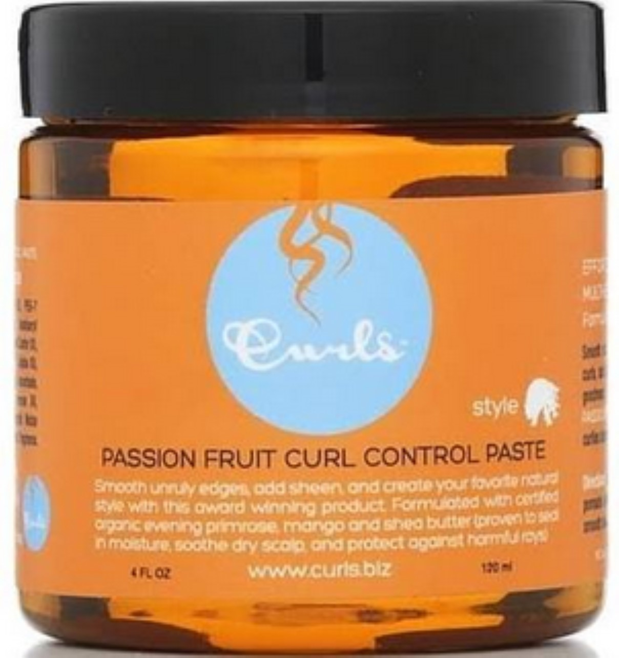 Curls Passion Fruit Control Paste, 4 oz (Pack of 6)