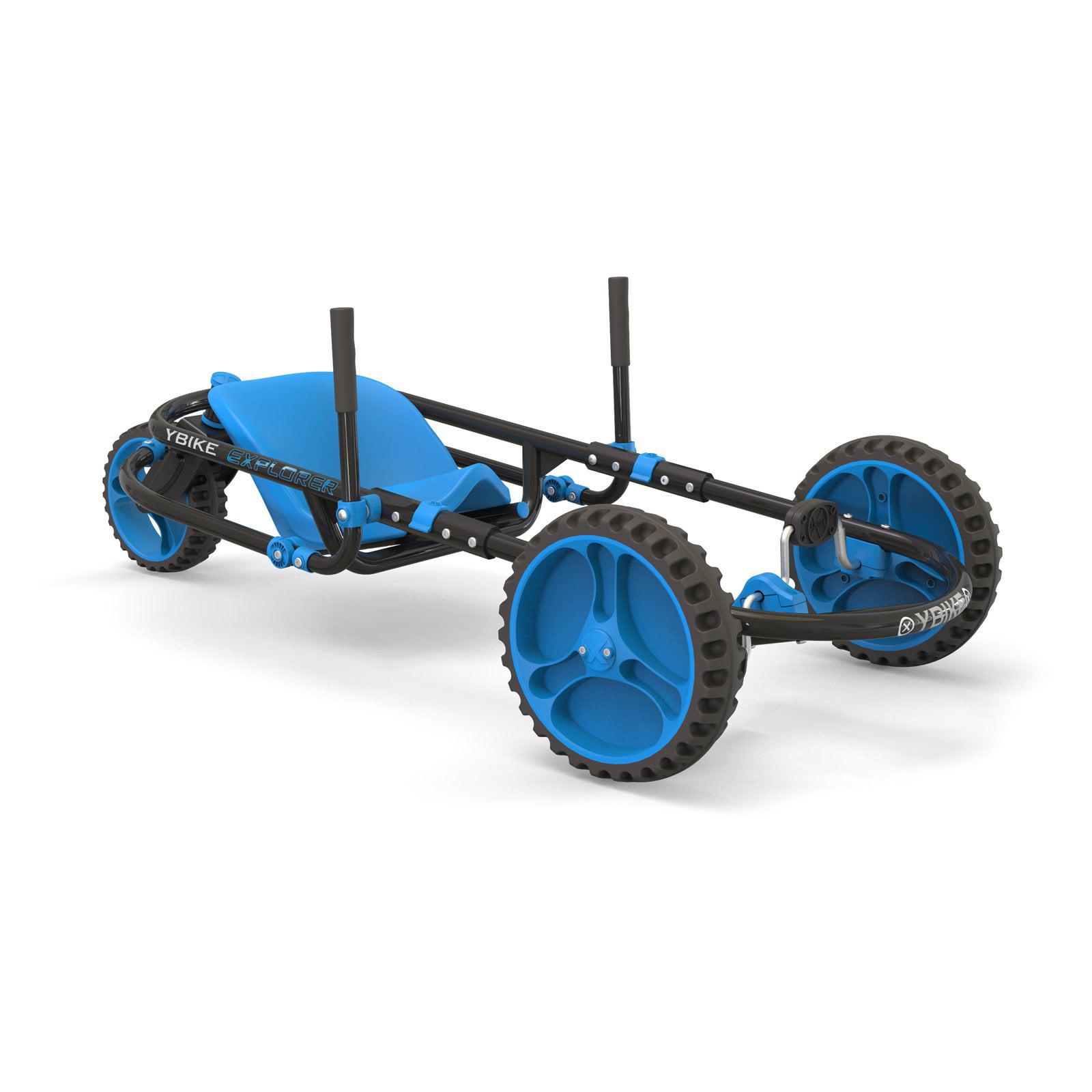 Ybike Explorer 3.0 Children's Pedal Go Kart, Blue/Black