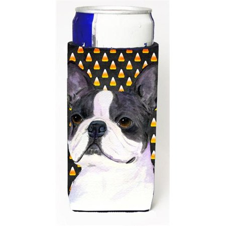 Boston Terrier Candy Corn Halloween Portrait Michelob Ultra s For Slim Cans - 12 oz. - Halloween Events In Boston