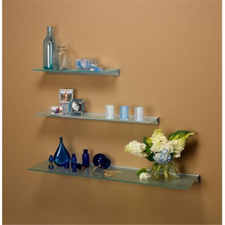 Amore Designs GCE824CL Glace Clear Glass Shelf, 8 x 24 inch Aspen 24' Glass Shelf