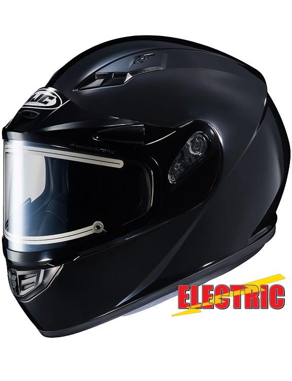 HJC CS-R3 Solid Snow Helmet w Electric Shield Gloss Black by