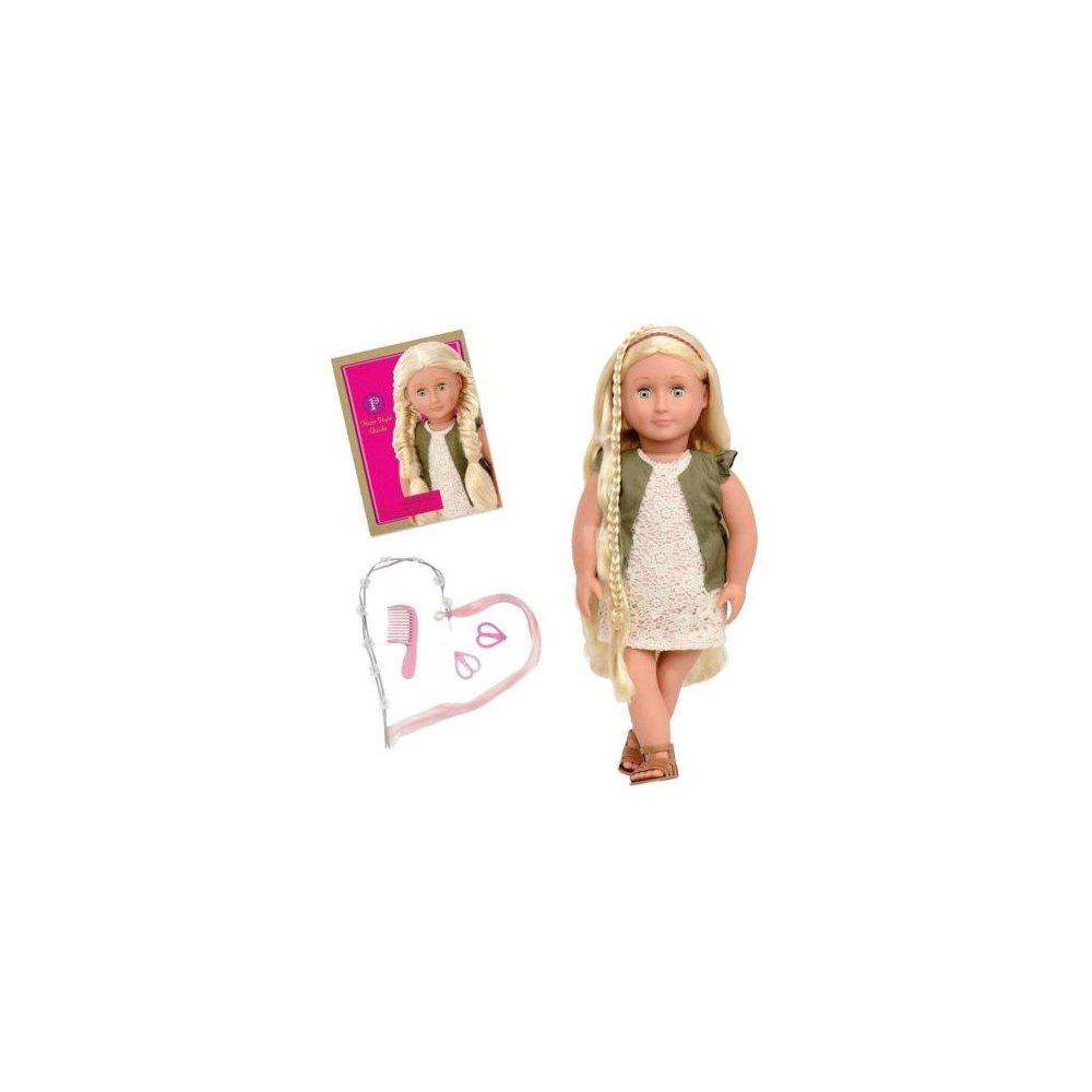Battat our generation 18 doll, pia, blonde hair styling w...
