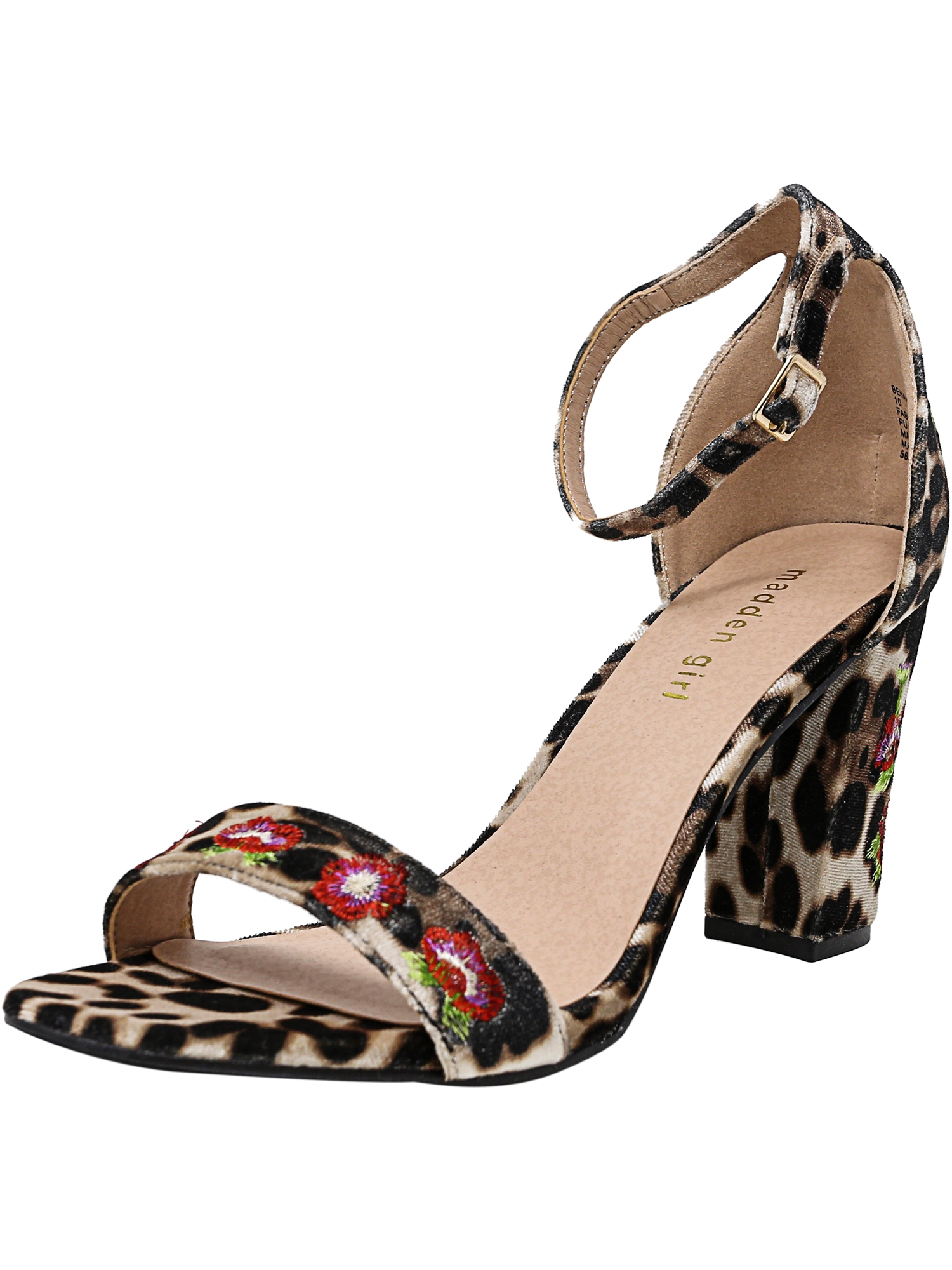 Madden Girl Women's Behave Leopard Ankle-High Fabric Pump - 7.5M