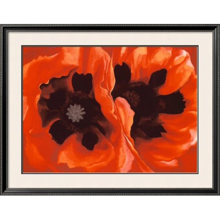 Oriental Poppies, c.1928 Framed Art Print Wall Art  By Georgia O'Keeffe - (Georgia Framed)