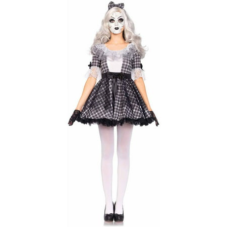 Halloween Doll Make Up (Leg Avenue 3-Piece Porcelain Doll Adult Halloween)