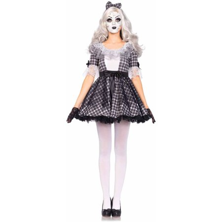 Leg Avenue 3-Piece Porcelain Doll Adult Halloween Costume - Halloween 3 Drill