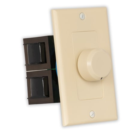 Theater Solutions TSVCD-I Indoor Speaker Volume Control Ivory Dial Audio Switch