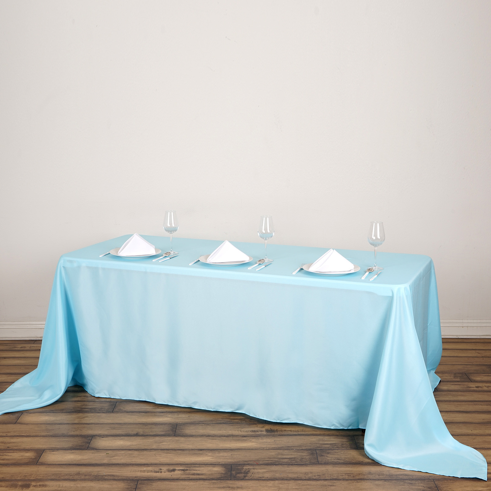 """BalsaCircle 90"""" x 132"""" Rectangular Polyester Tablecloth for Party Wedding Reception Catering Dining Home Table Linens"""