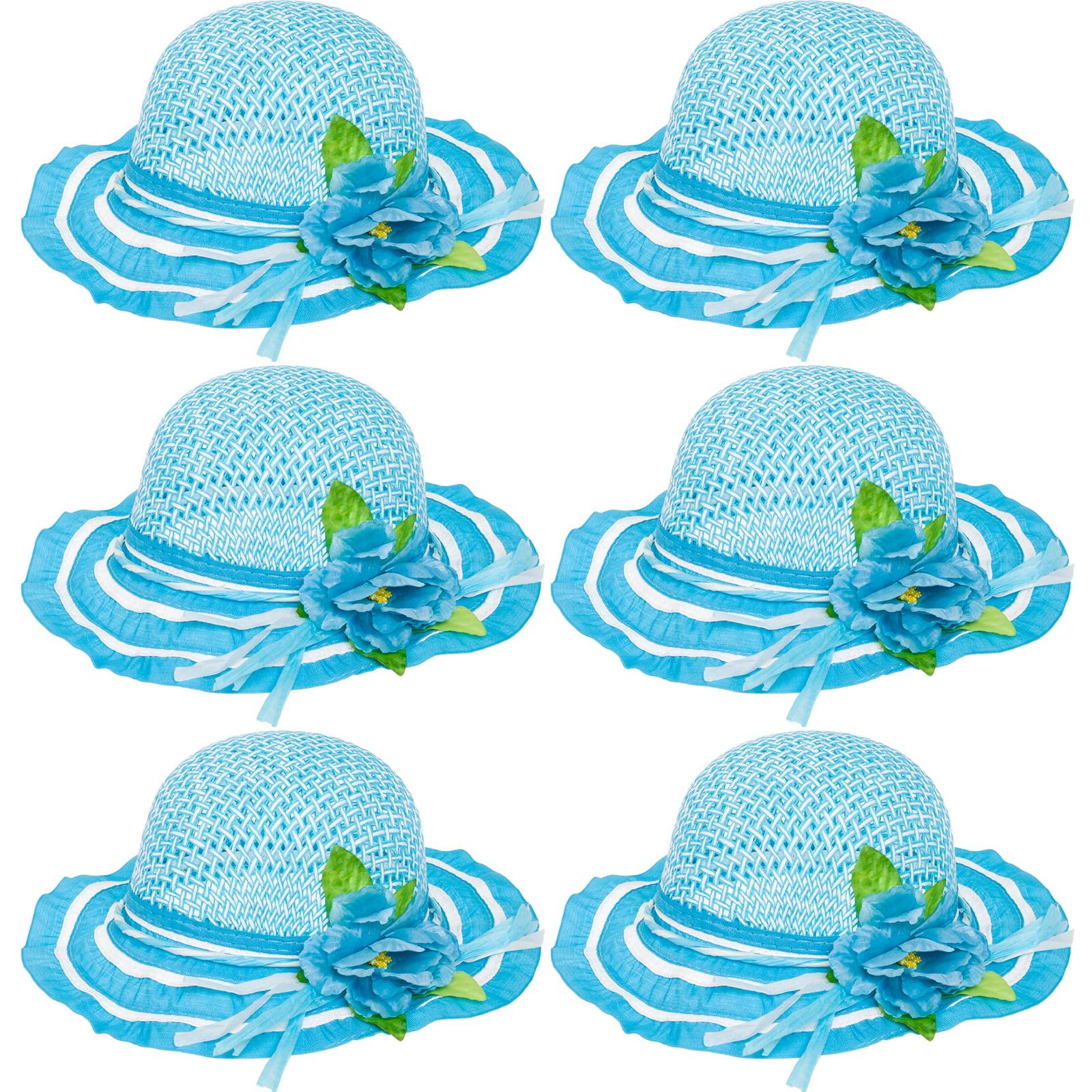 6 Pack Cutie Collections Girls Tea Party Flower Dress Up Sun Hats ...