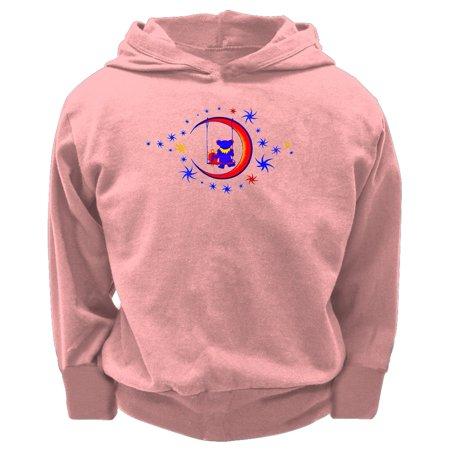 Grateful Dead - Moon Swing Light Pink Toddler Hoodie - (Moon Kids Sweatshirt)