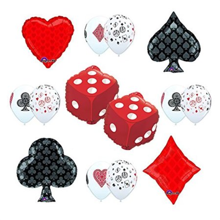Casino Night Decorations Ideas (CASINO NIGHT Cards and Dice Party Supplies and Balloon)