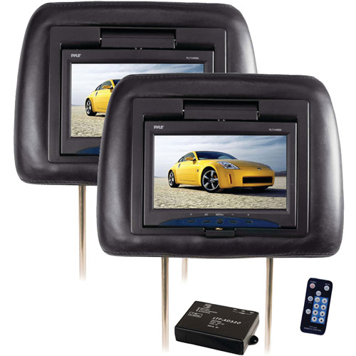 "Pyle PL71PHB 7"" Adjustable Headrest Monitors with IR Transmitter, Black"
